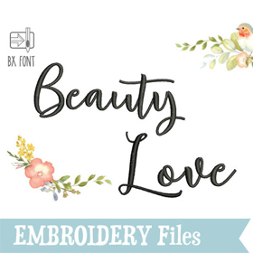 Beauty Love Embroidery Font