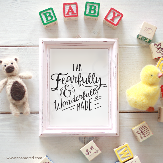I Am Fearfully And Wonderfully Made Svg