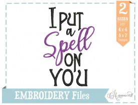 I put a spell on you embroidery design file