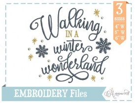 Walking in a Winter Wonderland Embroidery