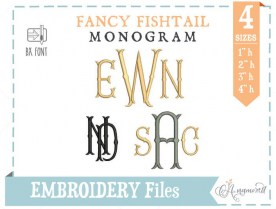 fancyfishtail-embroideryfont-4sizes