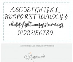 Beautylove embroidery font