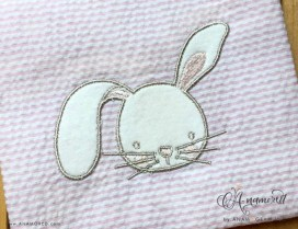 Bunny Embroidery Applique Design