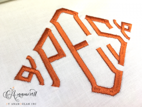 diamond embroidery font 4 inch set