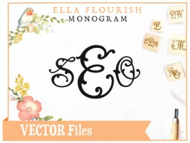 Ella Split SVG Monogram Font
