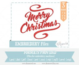Merry Christmas Embroidery File