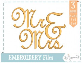 Mrs.&Mrs.EmbroideryDesign