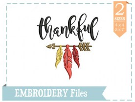 Thankful-Embroidery-File
