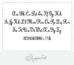 Upright Script Embroidery Font